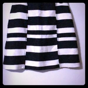 Classic Navy and White Striped Skirt